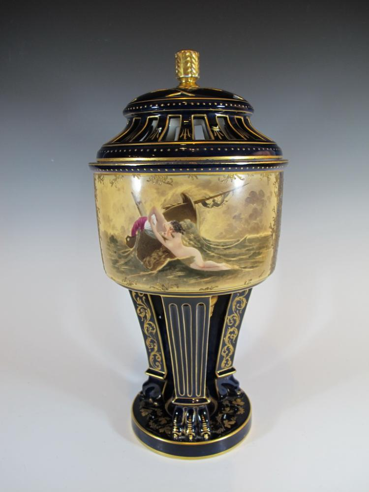 Probably Vienna antique porcelain urn