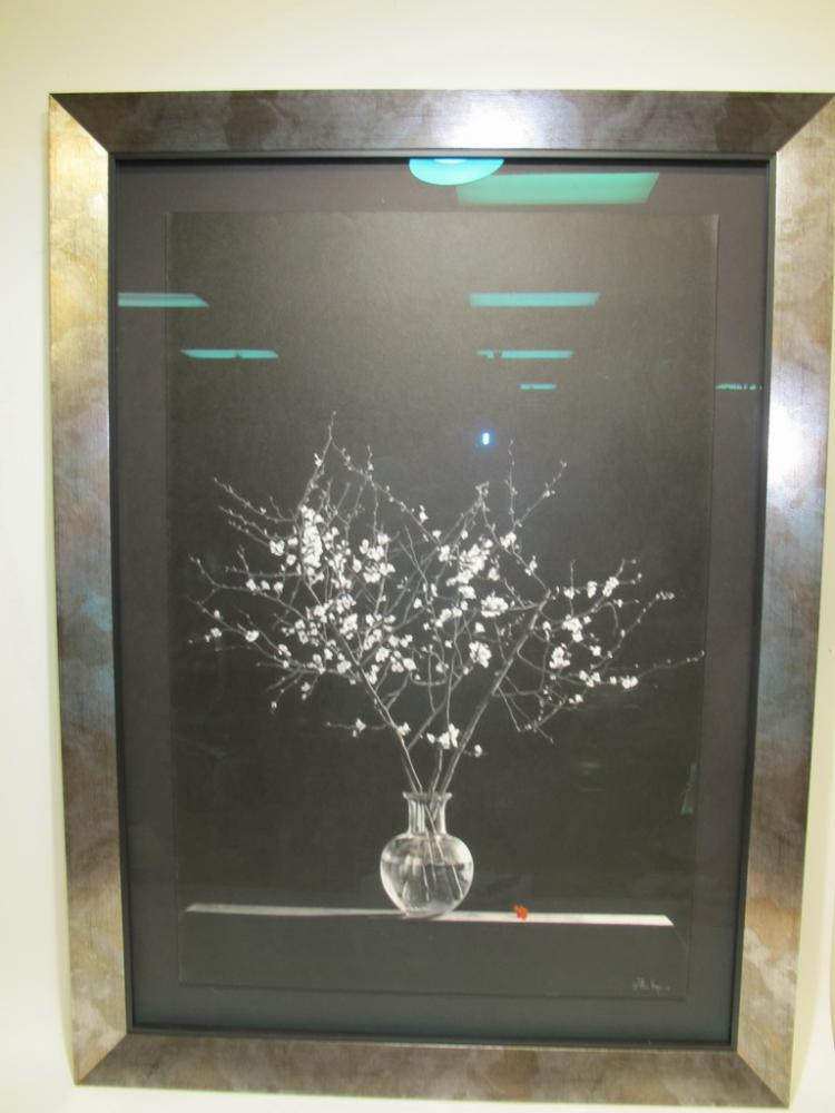 Willis Vega white pencil on black drawing
