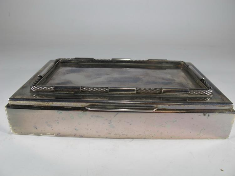 Marked Gucci Italy silverplate cigar box