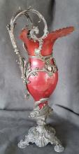 American Aesthetic Movement Patinated, Mixed-Metals Ewer