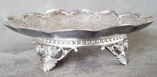 Ornate Tuffs Silver Plate Card Tray
