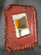 American Aesthetic Movement Patinated Mixed-Metals Mirror C 1880s