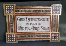 William and Emily Shaen Dedication Plaque for 15 Upper Phillimore Gardens, London