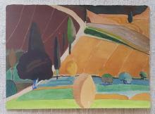 Paul Narkiewicz, American (1937-)Watercolor from Italian Countryside Series