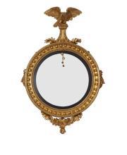 Early 19th Century Gilt Federal Bullseye Mirror