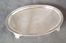 Early 19th Century Coin Silver Salver