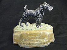 Antique Cast Iron Scttie Dog Book End or Door Stop