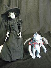Franklin Mint Wizard of Oz Wicked Witch & Flying Monkey Dolls
