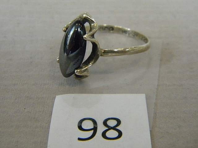 Ladies Sterling Silver Ring Size 8