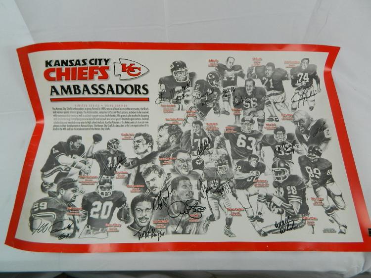 Kansas City Chiefs Ambassadors Limited Edition Poster W 16