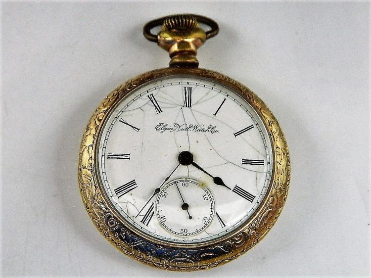 Elgin National Watch Company Pocket Watch c1891, G.M. Wheeler, Gilt Finish