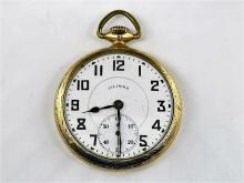 Illinois Pocket Watch, Dueber 10k Gold Filled, c 1925, 17J, Double Roller