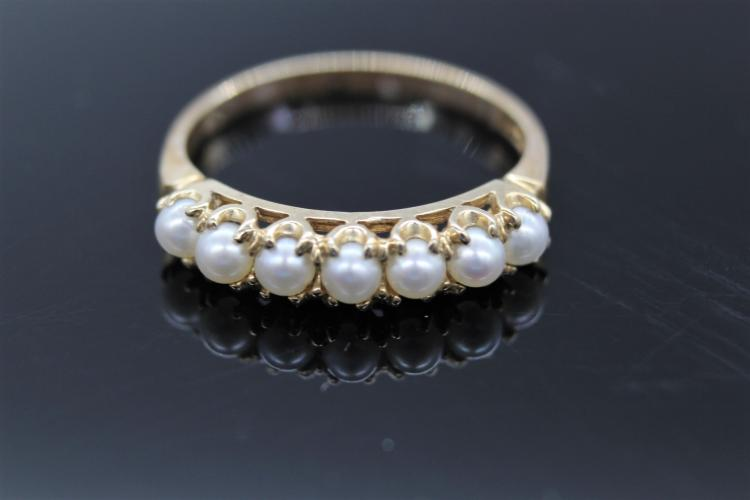 10K Yellow Gold & Pearl Ring