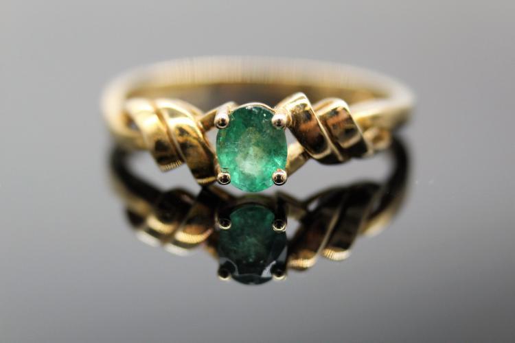 10K Yellow Gold & Gemstone Ring