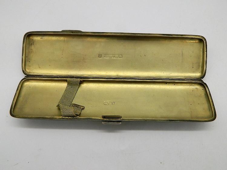 Circa 1895 Birmingham J. & A. Zimmerman Heavy Sterling Silver Ink Pen Case