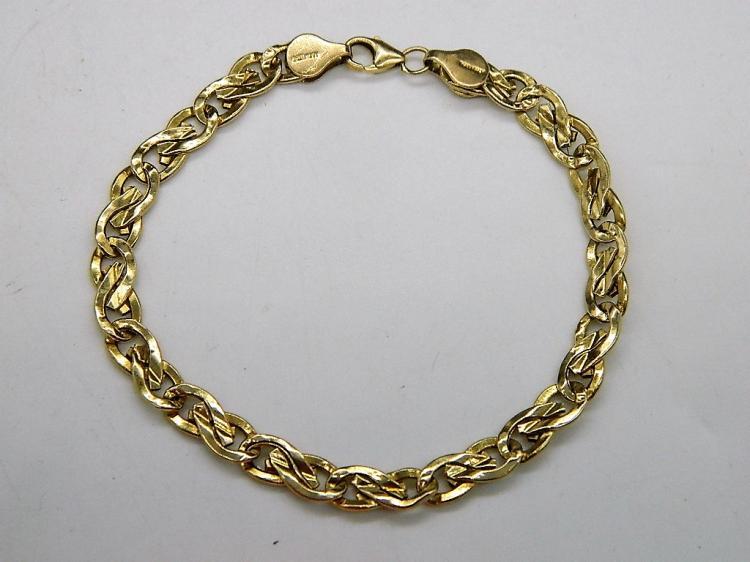 14K Polished Yellow Gold Italian Gold Bracelet