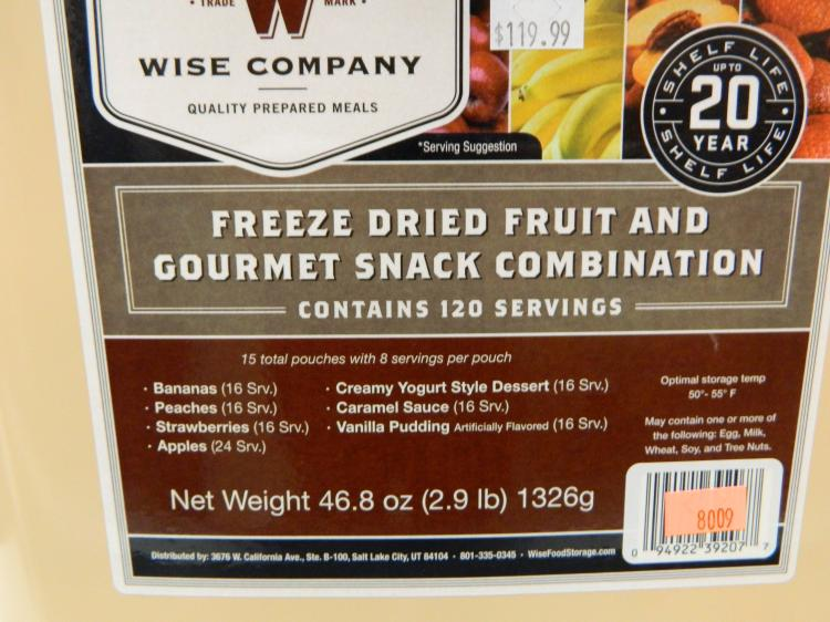 120 servings freeze dried fruit gourmet snack combination - Dried fruit business ...