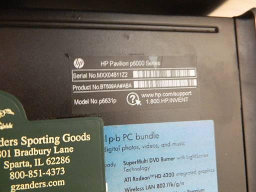 Hp Pavilion P6631p Desktop Pc With Windows 10 4gb Ram Amd Athlon Ii X4 635 Processor 2 90ghz 700gb Hdd