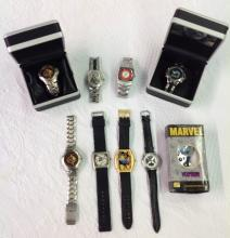 Lot of 9 DC/Marvel Watches