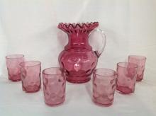 Cranberry Thubnail Water Set