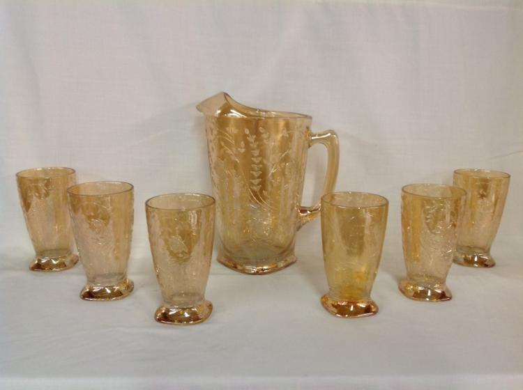 Amber Depression Water Set