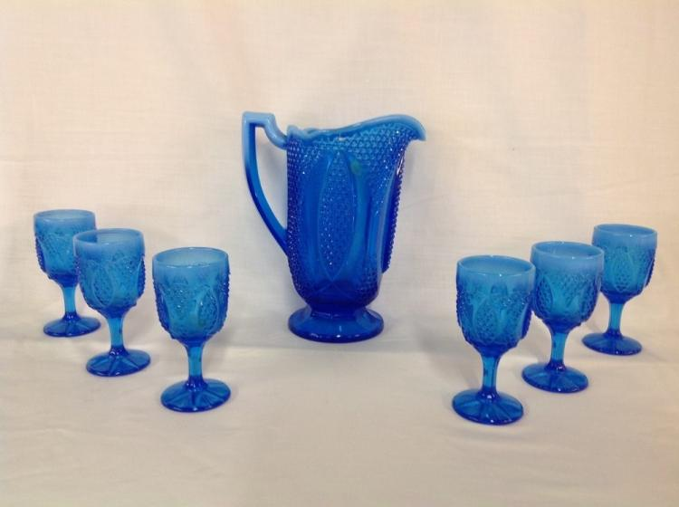 Small Blue Sherry Water Set