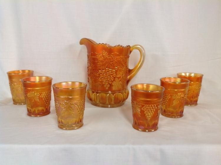 Northwood Amber Grape and Cable Water Set