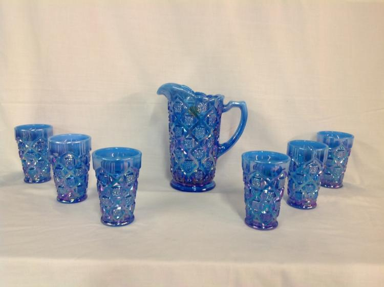 Blue Westmoreland Checkerboard Water Set