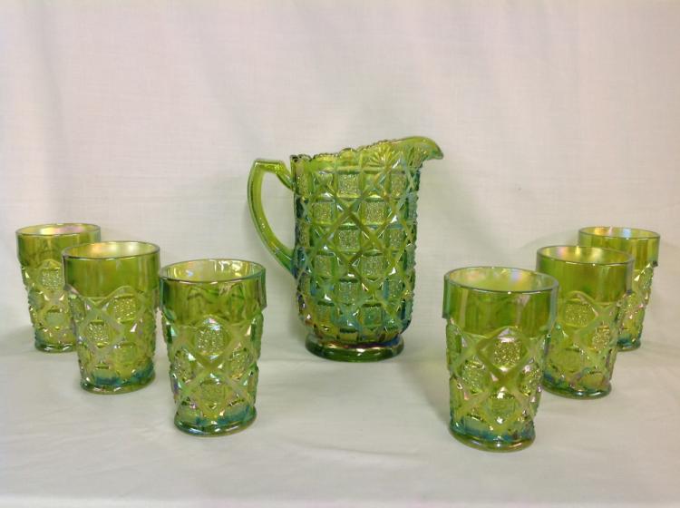 Light Green Westmoreland Checkerboard Water Set