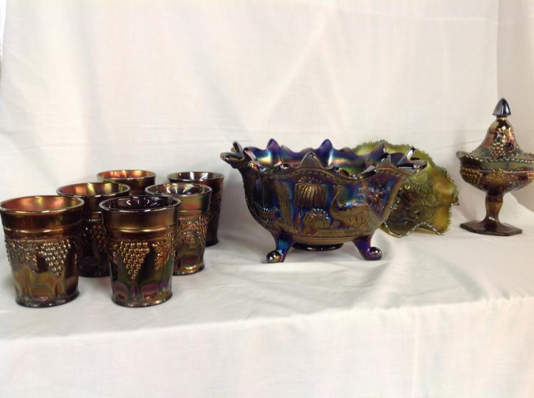 Northwood Assorted Carnival Glass