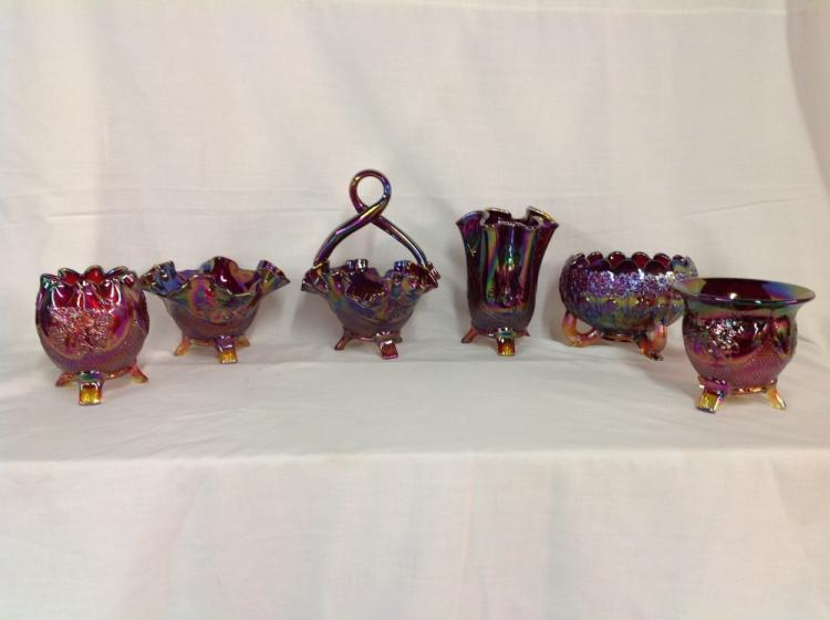 Fenton Assorted Footed Bowls and Basket