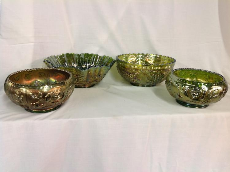Assorted Imperial Glass Bowls - 4 Pcs