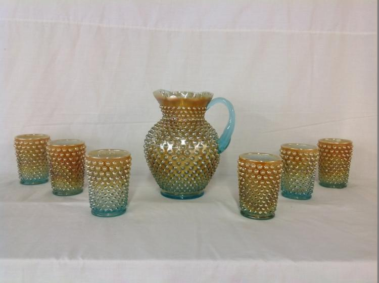 Hobnail Fenton Water Set