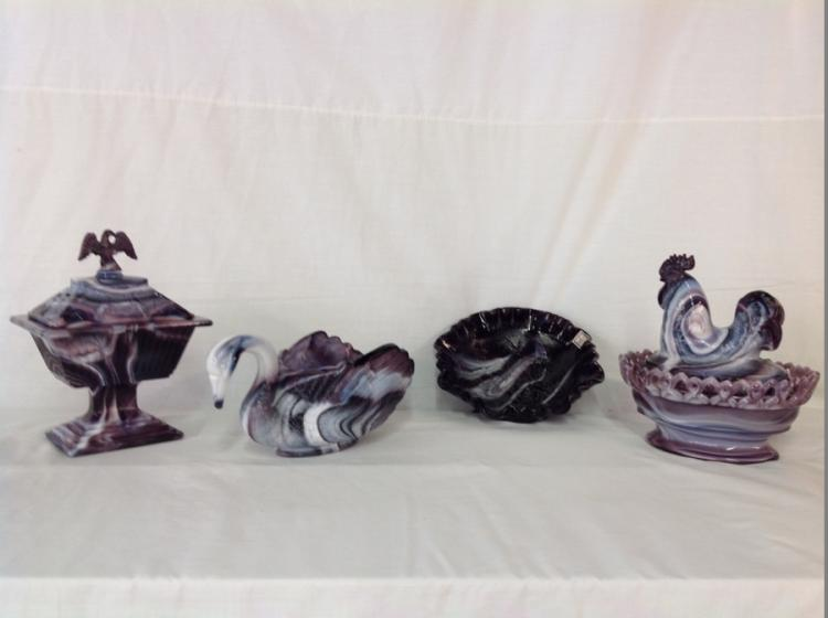 Imperial Glass Purple Slag Glass