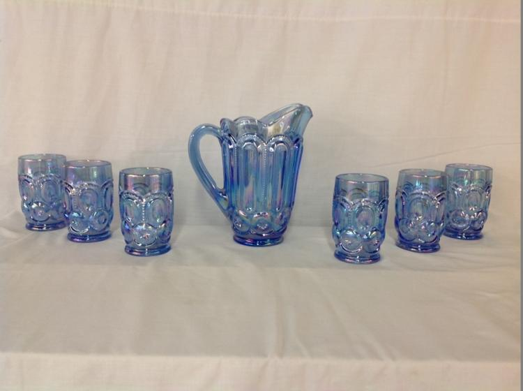 Smith Water Set Blue Moon Star Pattern