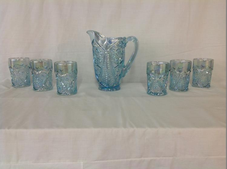 Smith Water Set Blue Sunflower Iridescent