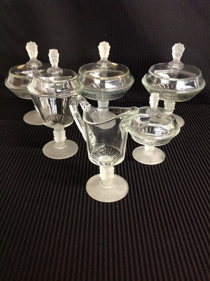 6 Pcs of Three Face Glass