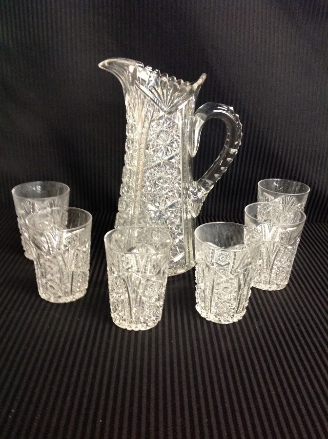 Clear Lead Crystal Water Set