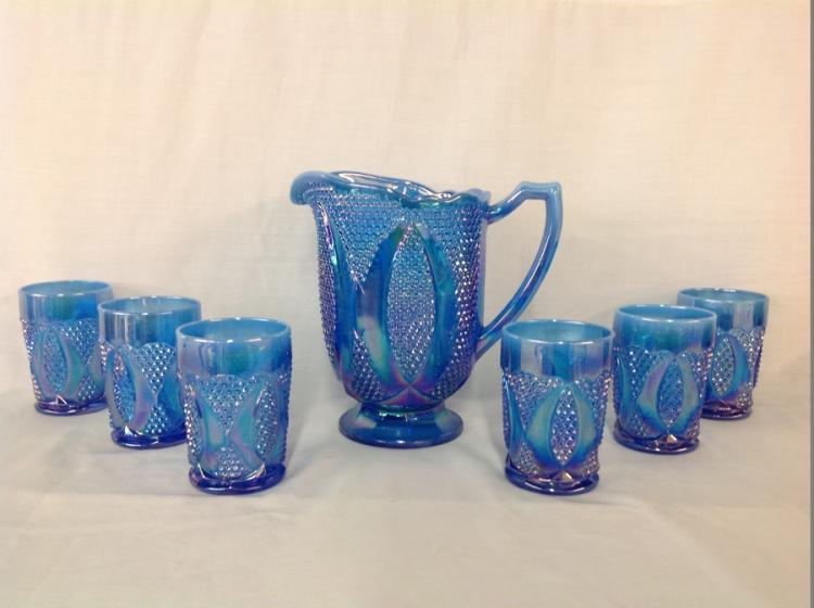 Iridescent Blue Water Set