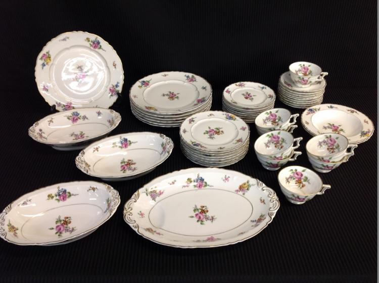 Havilands Chantilly Rose China Set - 47 pcs