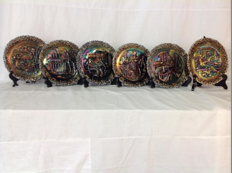 Fenton American Craftsman Plates set of 12