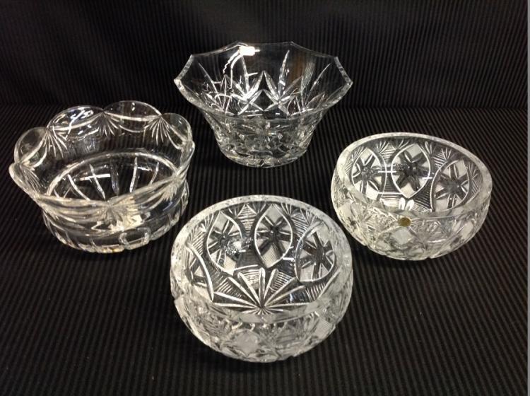 4 Cut Crystal Bowls