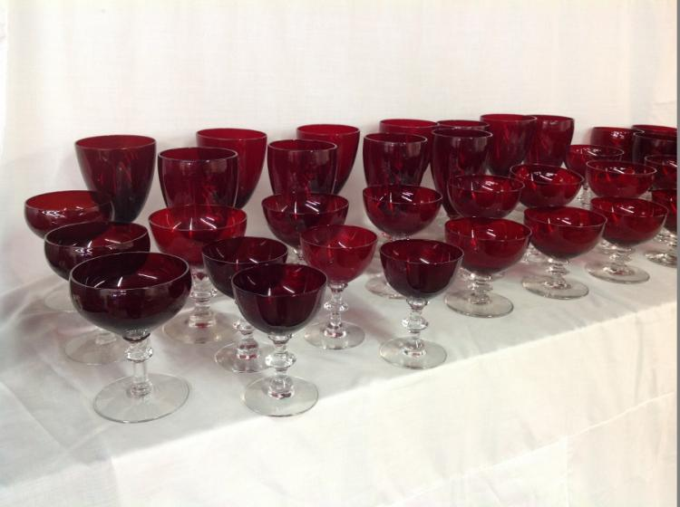 Assorted Red/Clear Stemware