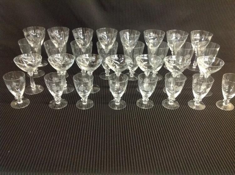 Crystal Goblets Rose Pattern