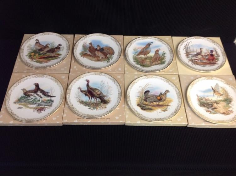 Boehm Studios - Game Birds of North America 8 Plate Collection