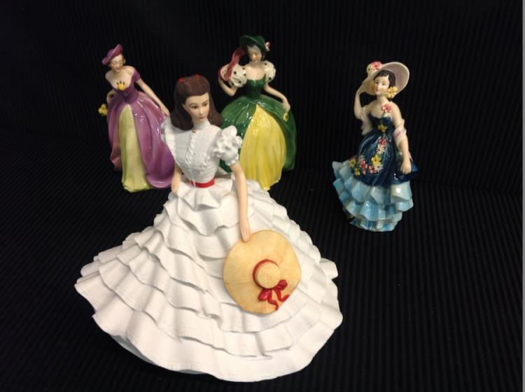 Goebel Ladies Figurines & Franklin Mint Scarlet O'Hara