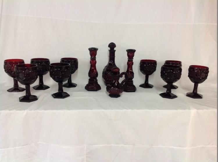 Red Avon Goblets and Curettes
