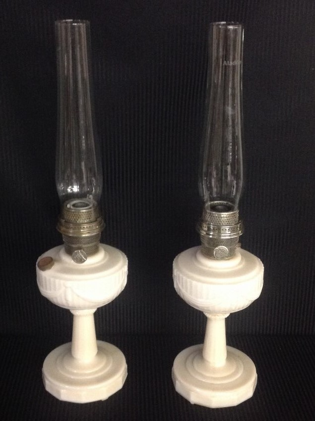Pair of Pink Aladdin Lincoln Drape Lamps