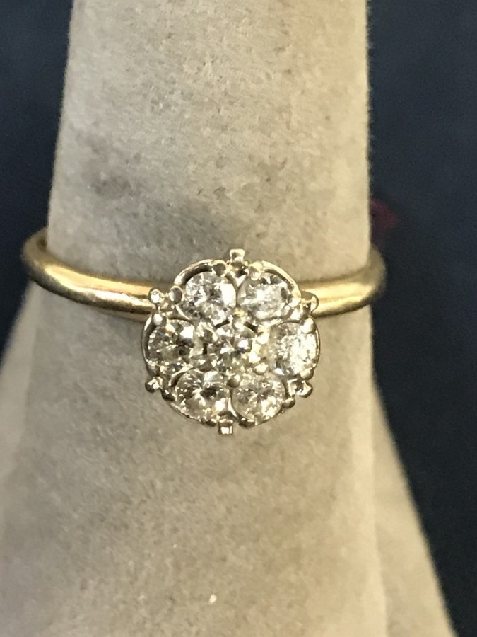 14k Yellow Gold Approx 1 2k Diamond Ring