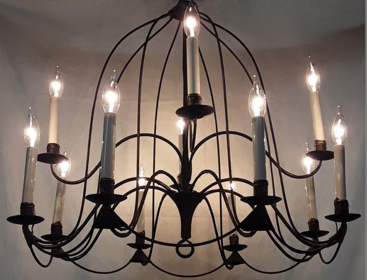 Rustic wire chandelier for Rustic wire chandelier